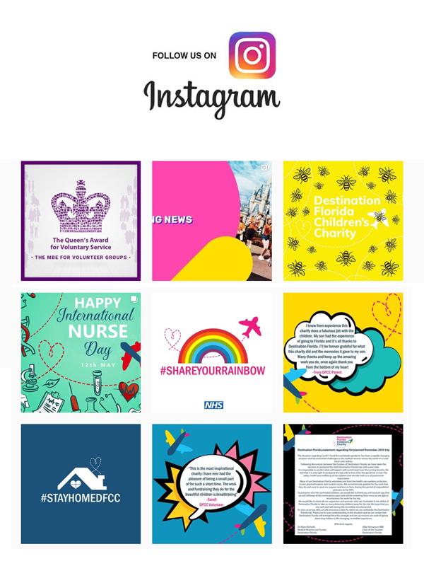 Follow Destination Florida Childrens Charity on Instagram